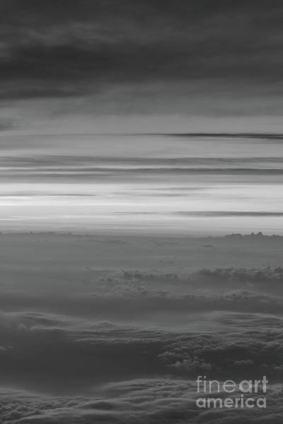 Delta Wing Photograph - Sunset Above The Clouds Bw  by Michael Ver Sprill