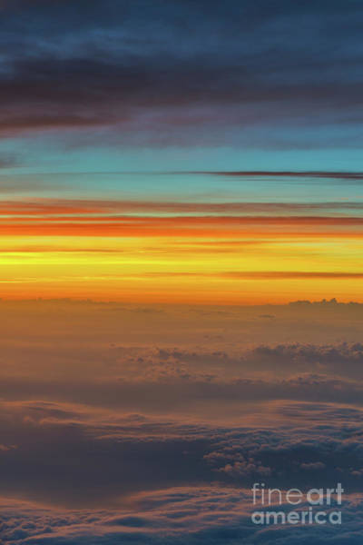 Delta Wing Photograph - Sunset Above The Clouds  by Michael Ver Sprill