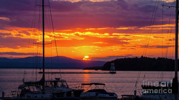 Photograph - Sunset Across Lake Champlain by Scenic Vermont Photography