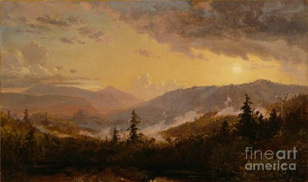 Catskills Painting - Sunset After A Storm In The Catskill Mountains by Jasper Francis Cropsey