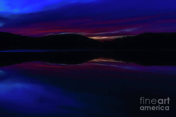 Photograph - Sunset Afterglow On Lake by Thomas R Fletcher