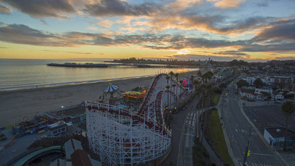 Red Bluff Photograph - Sunset Amusement by David Levy
