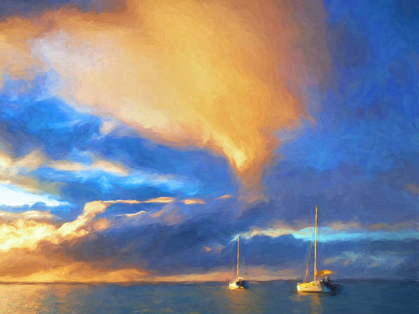 Painting - Sunset Anchorage At Hanalei Bay by Dominic Piperata