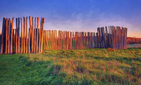 Wall Art - Photograph - Sunset And Ancient Stockadeaztalan State Park  by Jennifer Rondinelli Reilly - Fine Art Photography