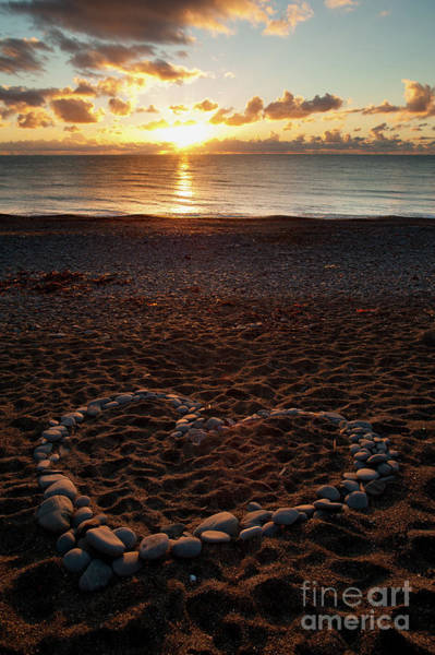 Photograph - Sunset And Heart by Keith Morris
