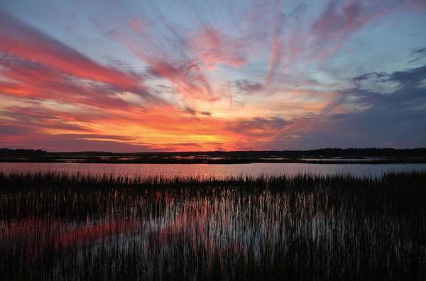 Photograph - Sunset And Reflections 2 by Cynthia Guinn