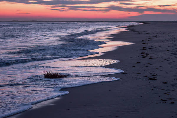 Photograph - Sunset And Sea Foam Holgate Nj 2017 by Terry DeLuco