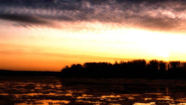 Photograph - Orange Glow River Flow by John Williams