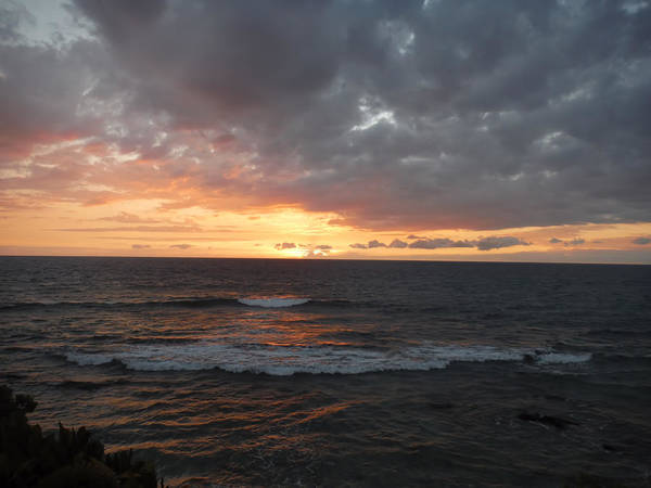 Photograph - Sunset And Waves by Pamela Walton