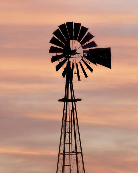 Photograph - Sunset And Windmill 06 by Rob Graham