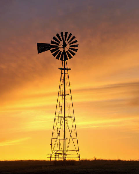 Photograph - Sunset And Windmill 08 by Rob Graham