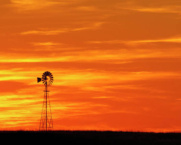 Photograph - Sunset And Windmill 10 by Rob Graham
