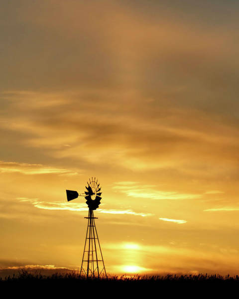Photograph - Sunset And Windmill 12 by Rob Graham