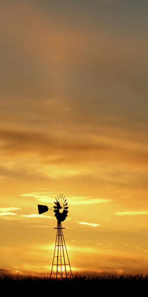 Photograph - Sunset And Windmill 14 by Rob Graham