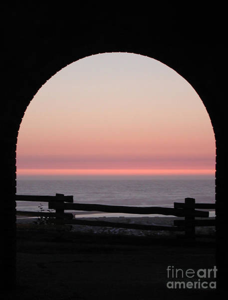 Photograph - Sunset Arch With Fog Bank by Kathi Shotwell