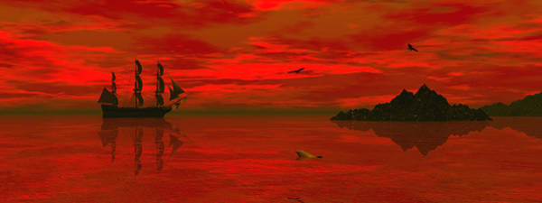 Bryce Digital Art - Sunset Arrival by Claude McCoy