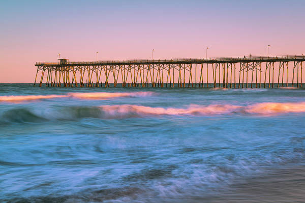 Photograph - Sunset At A North Carolina Fishing Pier by Ranjay Mitra