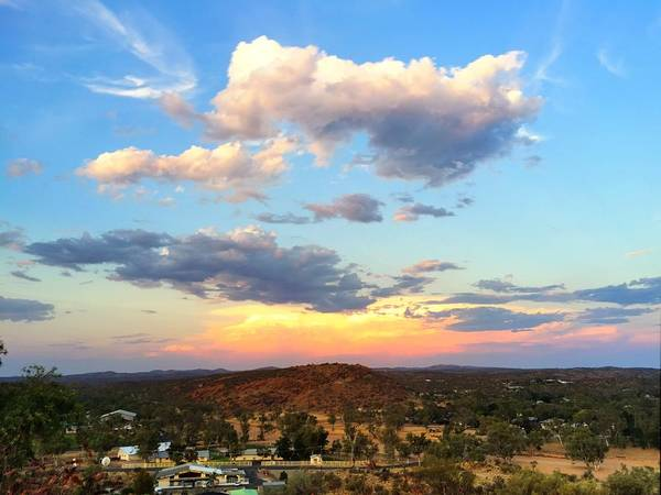 Sunset At Alice Springs #2 Art Print