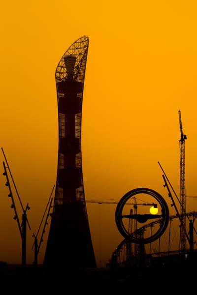 Photograph - Sunset At Aspire Doha by Paul Cowan