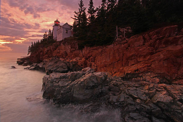 Photograph - Sunset At Bass Harbor Head Lighthouse by Juergen Roth