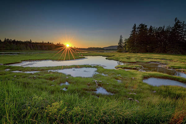 Photograph - Sunset At Bass Harbor Marsh by Rick Berk