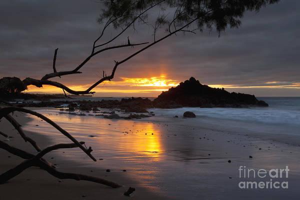 Photograph - Sunset At Beach 69 - Hawaii by Charmian Vistaunet