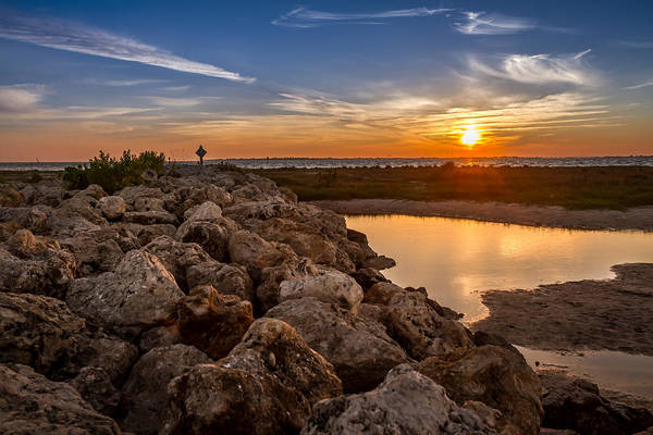 Photograph - Sunset At Bowditch Point In Fort Myers, Florida. by Ron Pate