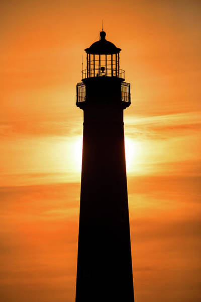 Photograph - Sunset At Cape May Lighthouse by Don Johnson