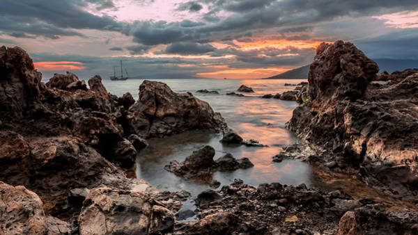 Photograph - Sunset At Charley Young Beach by Susan Rissi Tregoning