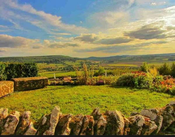 Chateauneuf Photograph - Sunset At Chateauneuf En Auxois France by Nadia Seme