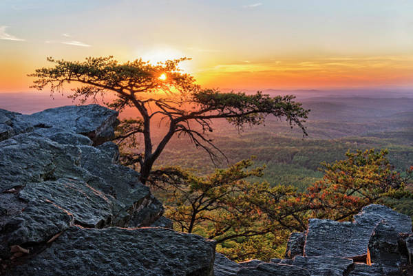 Photograph - Sunset At Cheaha Overlook 1 by Jim Vallee