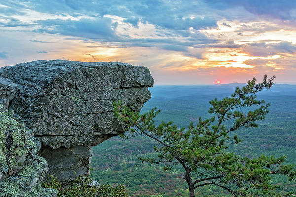 Photograph - Sunset At Cheaha Overlook 3 by Jim Vallee