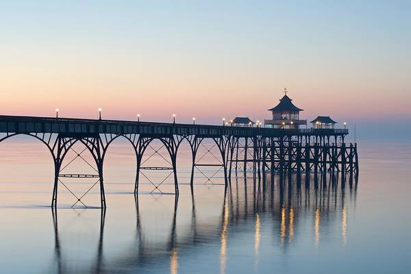 Photograph - Sunset At Clevedon by Stephen Taylor
