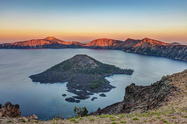 Photograph - Sunset At Crater Lake by Pierre Leclerc Photography