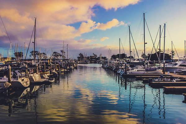 Sunset At Dana Point Harbor Art Print