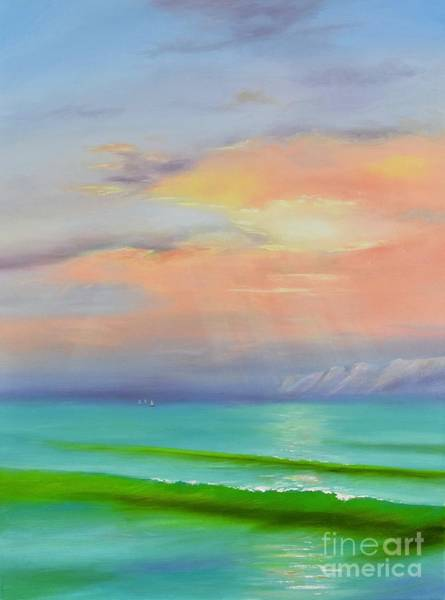 Painting - Sunset At Dana Point  by Mary Scott