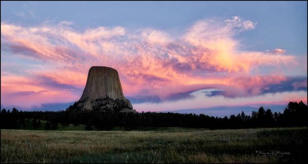 Wall Art - Photograph - Sunset At Devil's Tower by Brenda D Busskohl