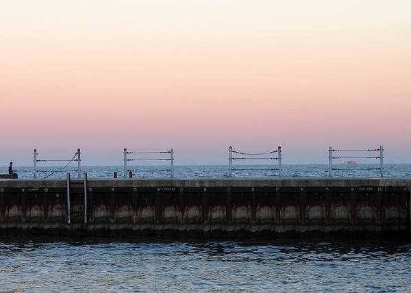Photograph - Sunset At Diversey Harbor by Laura Kinker