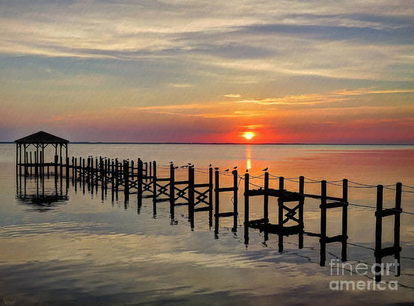 Photograph - Sunset At Duck Obx by Jeff Breiman