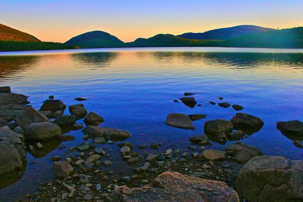 Photograph - Sunset At Eagle Lake In Acadia by Polly Castor