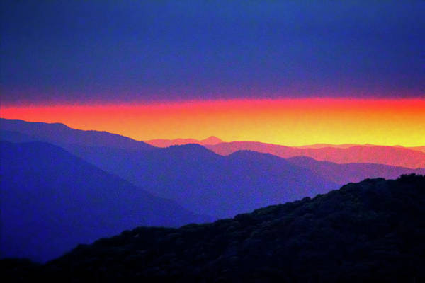 Photograph - Sunset At Eleven Ranges Overlook by Roger Passman