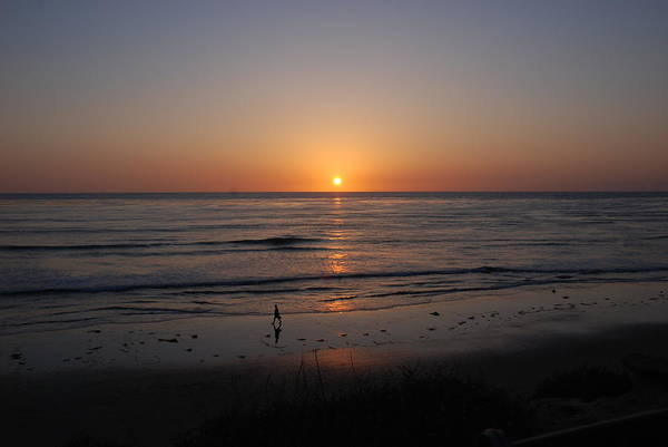 Photograph - Sunset At Eljio Beach California by Susanne Van Hulst