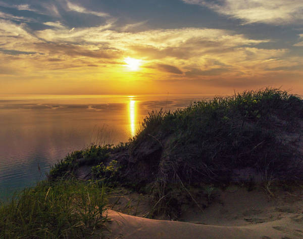 Photograph - Sunset At Empire Bluffs Trail by Dan Sproul