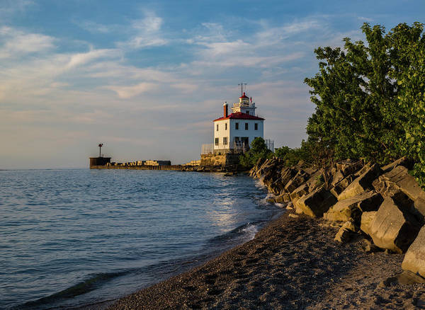 Photograph - Sunset At Fairport Harbor Lighthouse by Dale Kincaid