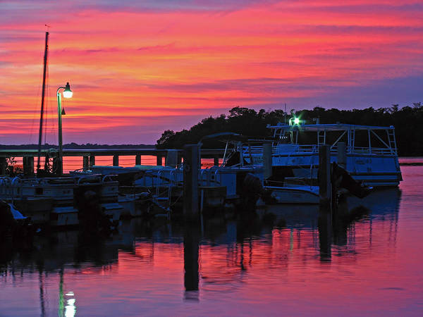 Photograph - Sunset At Florida Estero Bay Marina by Juergen Roth