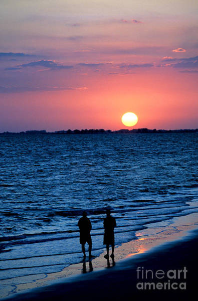 Photograph - Sunset At Fort Myers Beach On The Gulf Of Mexico by William Kuta