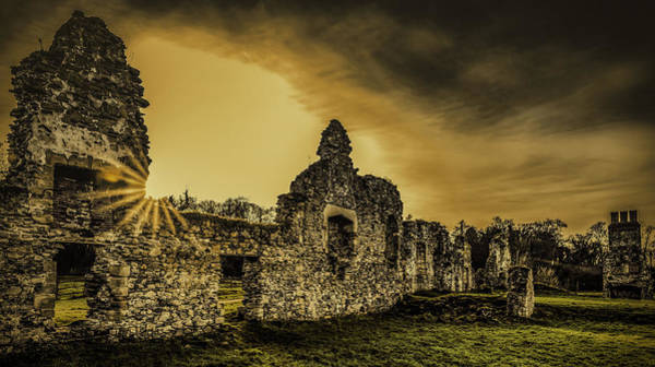 Photograph - Sunset At Grace Dieu by Nick Bywater