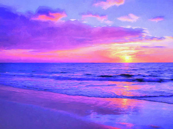 Painting - Sunset At Hapuna by Dominic Piperata
