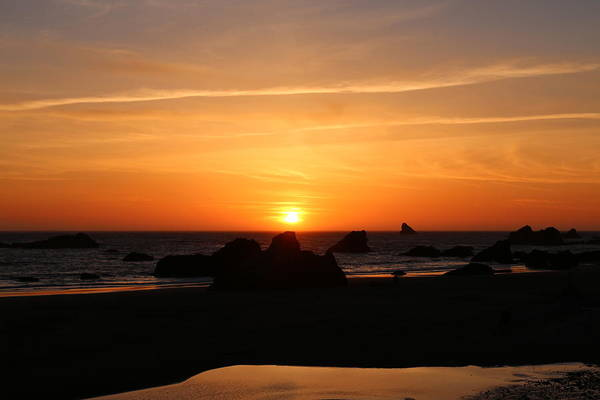 Photograph - Sunset At Harris Beach - 3 by Christy Pooschke