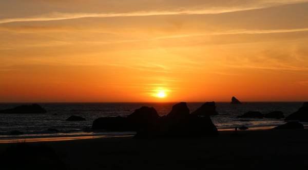Photograph - Sunset At Harris Beach - 4 by Christy Pooschke